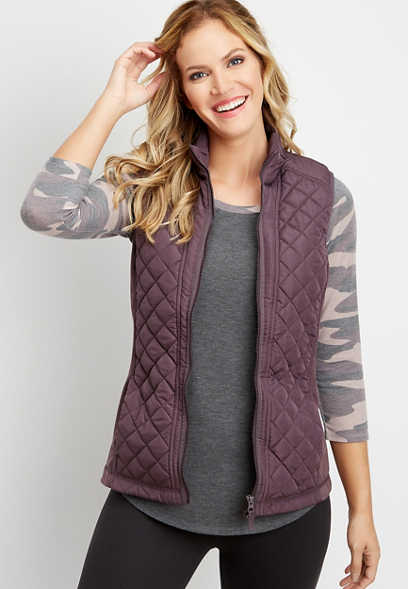 solid active puffer vest