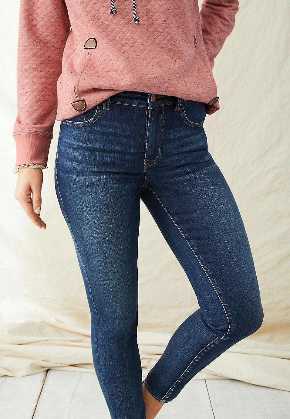 02767fb62 Everflex™ high rise dark tint stretch skinny jean   maurices