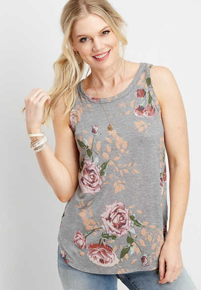 24/7 rose high neck tank