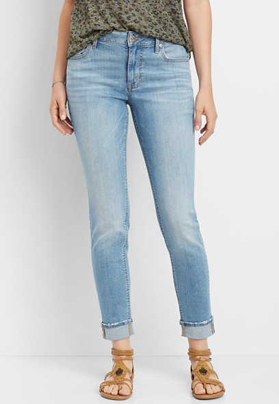 DenimFlex™ medium blast cuffed boyfriend jean