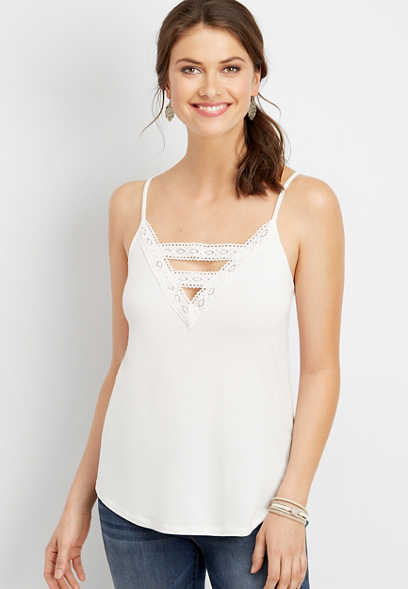24/7 lace trim cami