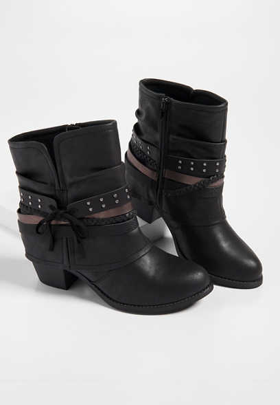 Raleigh hooded wrap ankle bootie