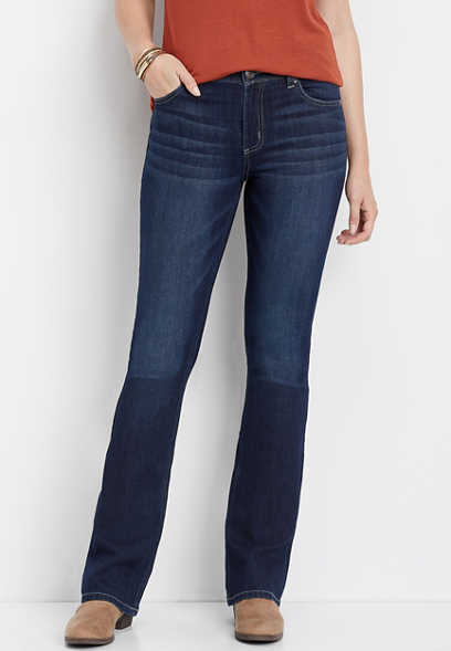 DenimFlex™ high rise dark wash bootcut jean