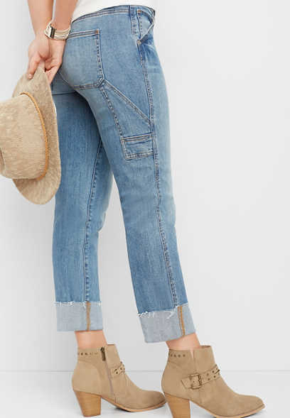 DenimFlex™ slim straight carpenter crop jean