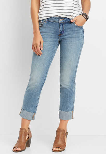 DenimFlex™ slim straight crop jean
