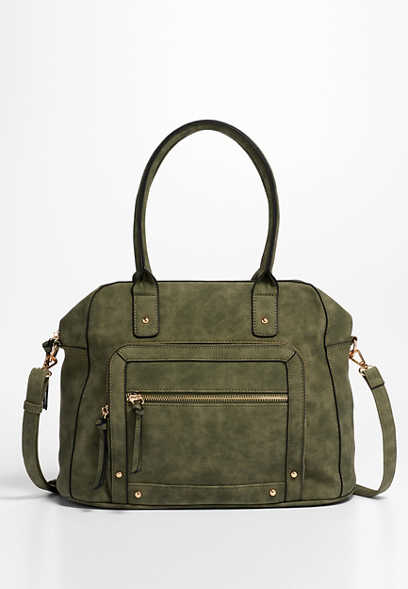 Logan faux suede satchel
