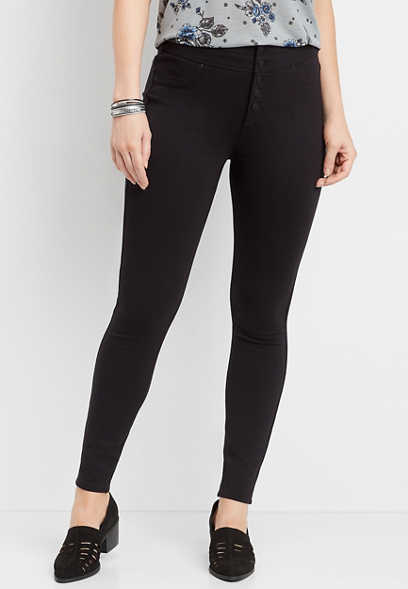 ultra high rise ponte knit skinny pant