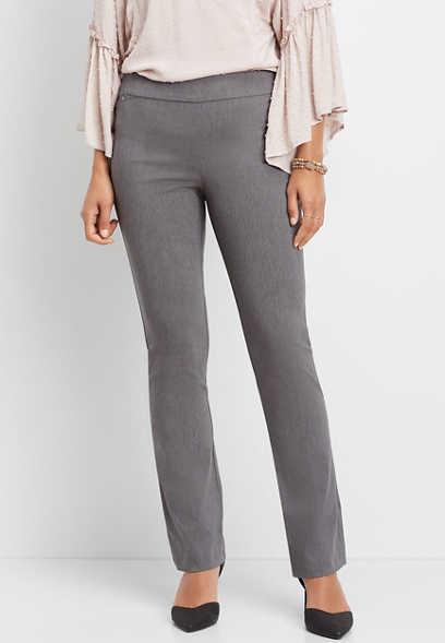 black pull on bengaline bootcut pant