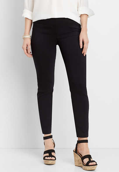 black stretch skinny ankle pant