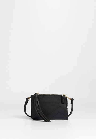 solid stadium event zipper crossbody bag
