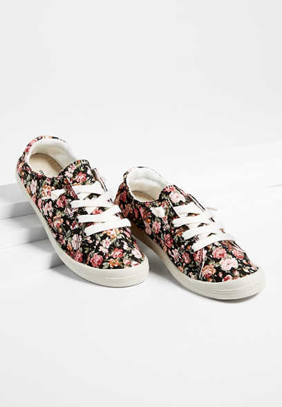 Mariah floral lace up sneaker