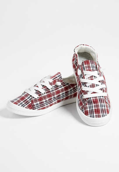 Mariah plaid lace up sneaker