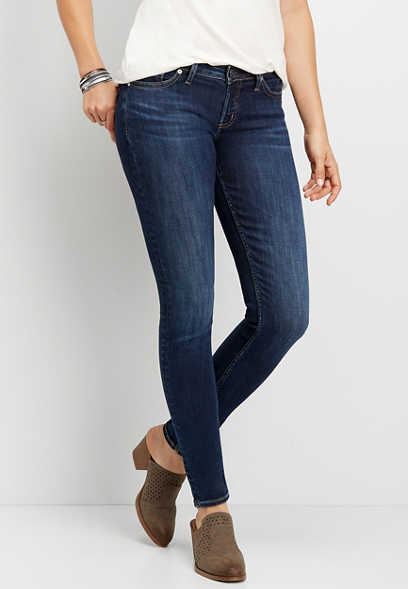 Silver Jeans Co.® low rise dark wash skinny jean