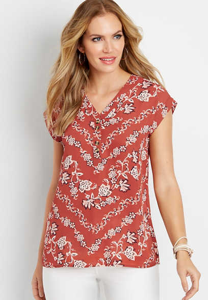 2759432220e chevron paisley vines blouse