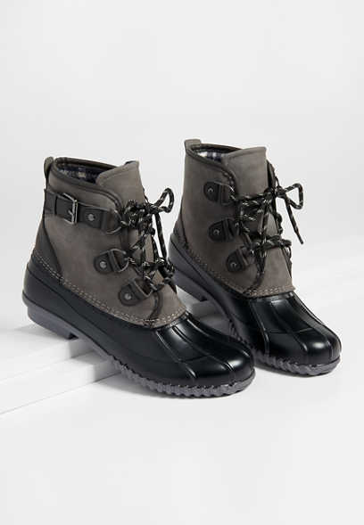 Kylie lace up duck boot