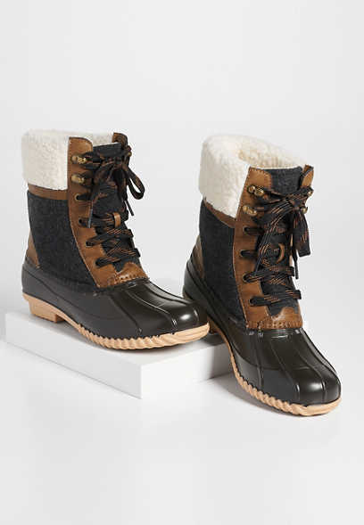 Kendal sherpa lined duck boot
