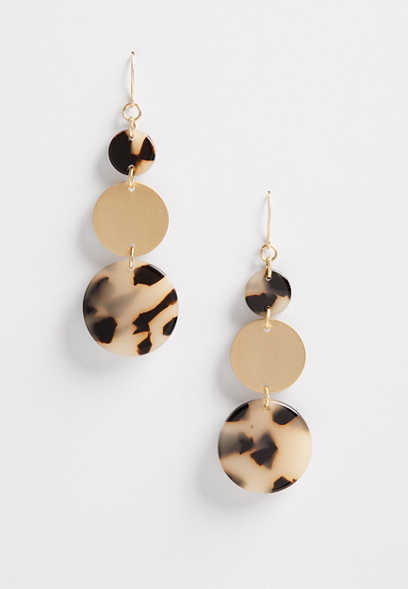 drop torte resin earrings