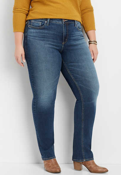 plus size Silver Jeans Co.® Avery straight leg jean