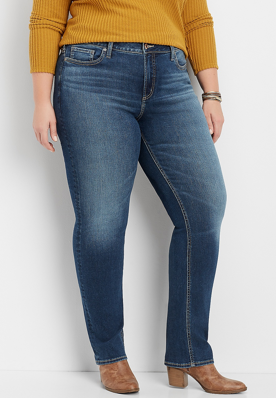 search for latest beautiful in colour popular stores plus size Silver Jeans Co.® Avery straight leg jean