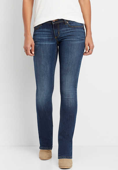 DenimFlex™ low rise dark wash slimboot jean