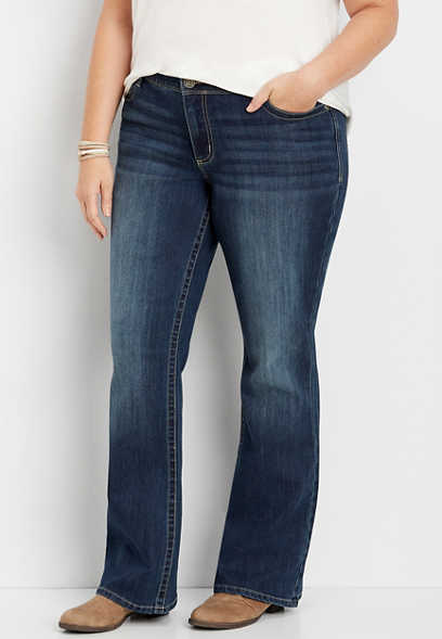 Plus Size DenimFlex™ Dark Wash Bootcut Jean