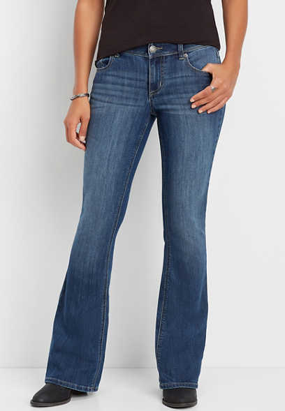 DenimFlex™ dark wash flare jean