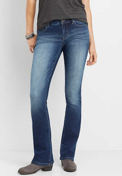 Everflex™ Mid Rise Medium Wash Stretch Bootcut Jean