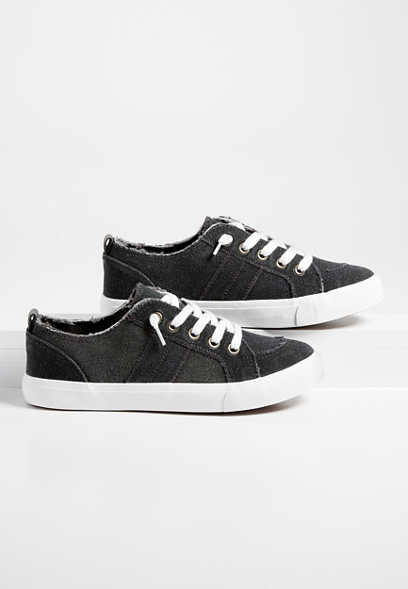 Betsy raw edge canvas sneaker