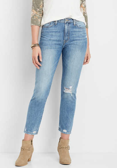 Flying Monkey™ destructed mom jean