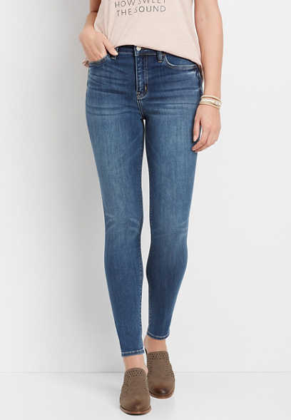 Flying Monkey™ High Rise Medium Wash Skinny Jean