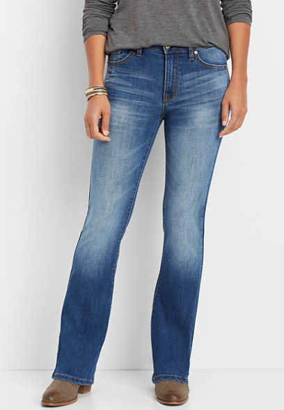 KanCan™ medium wash bootcut jean
