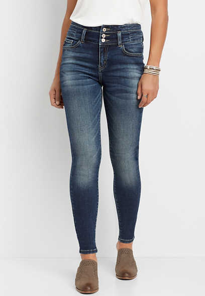 KanCan™ high rise stacked waist skinny jean