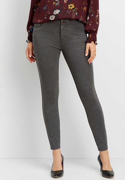 ponte knit skinny ankle pant