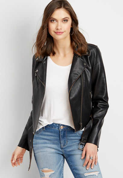 Vigoss® faux leather jacket