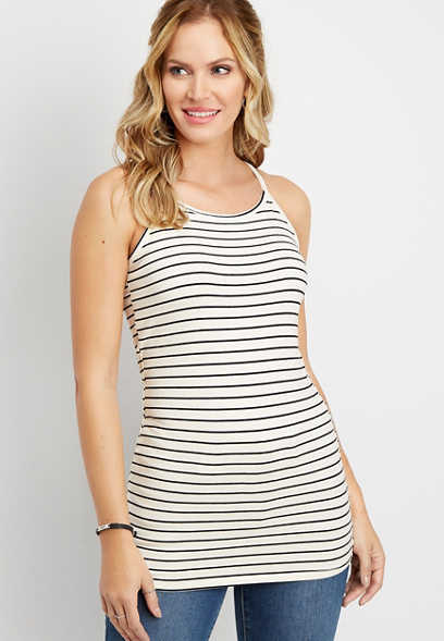 stripe tunic cami