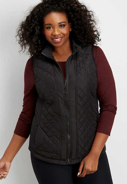 plus solid active puffer vest