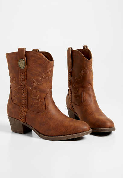 Ryanne mid-calf cowgirl boot