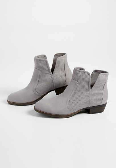 Ramona perforated side bootie
