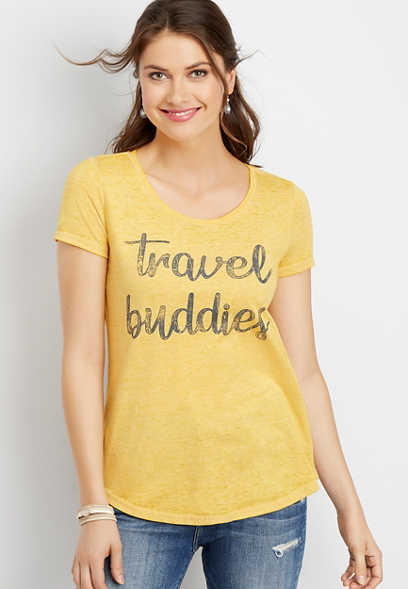 travel buddies graphic tee