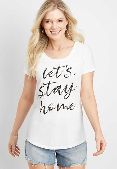 stay home graphic tee