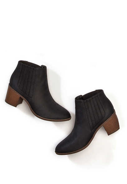 Ruby slip on ankle bootie