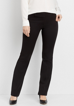 black pull on bengaline bootcut pant | maurices