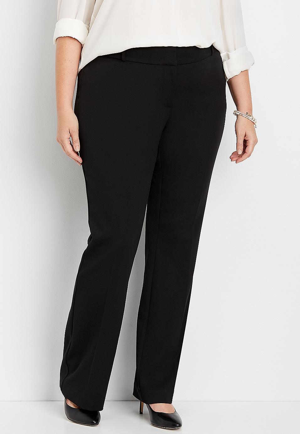 8990d7fb0 plus size classic black bootcut pant | maurices