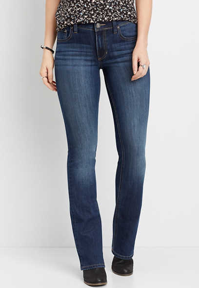 DenimFlex™ High Rise Dark Wash Slim Bootcut Jean
