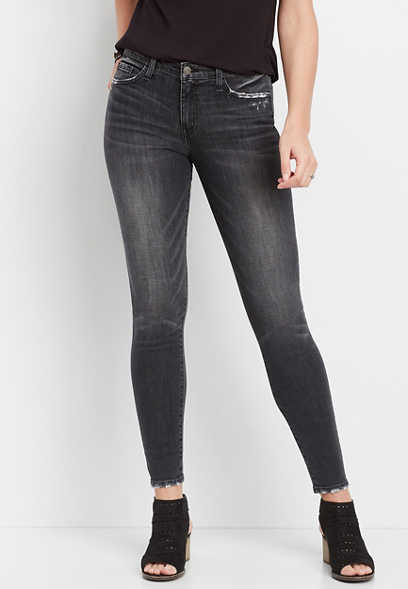 Flying Monkey™ washed black skinny jean