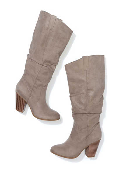 Darla tall scrunch heel boot