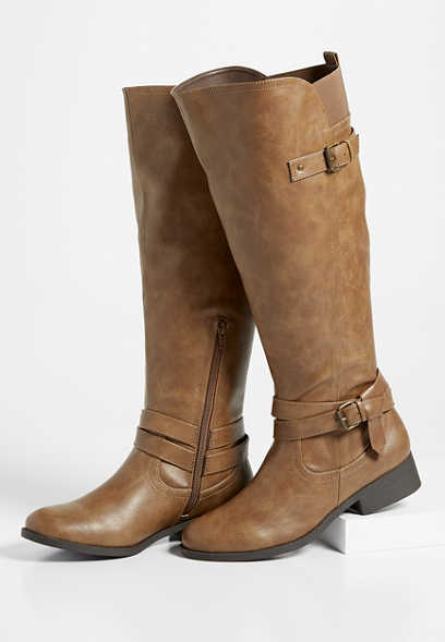 Daphne side buckle tall boot