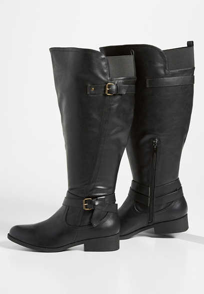 Daphne extra wide calf side buckle tall boot