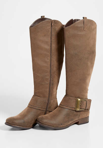 Delilah western buckle tall boot