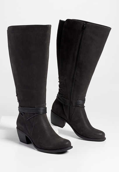 Dani wide calf ankle wrap tall boot